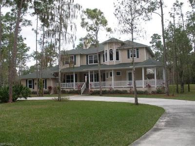 Collier County, Lee County Single Family Home For Sale: 6570 Hunters Rd