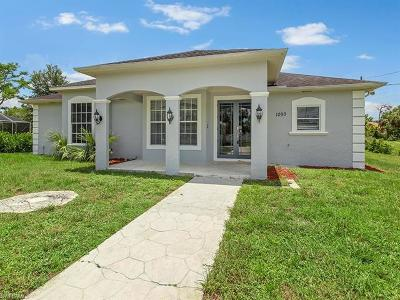 Naples Single Family Home For Sale: 1090 11th St SW