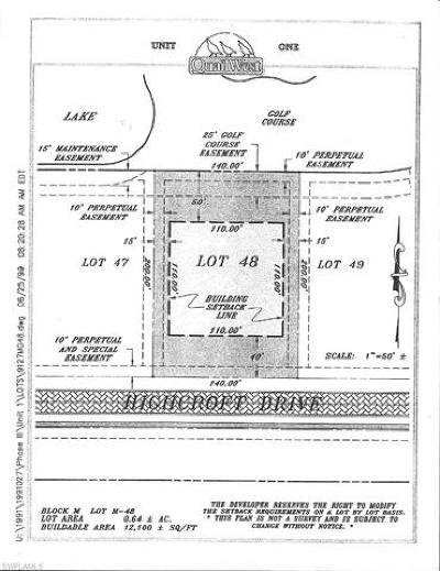 Naples Residential Lots & Land For Sale: 6417 Highcroft Dr