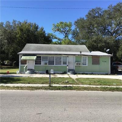 Fort Myers Multi Family Home For Sale: 734 Veronica S Shoemaker Blvd