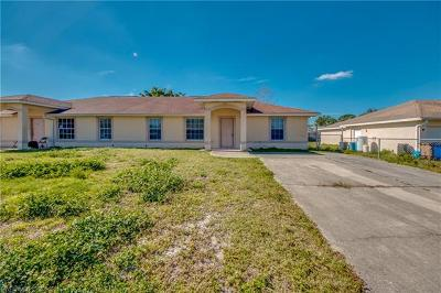 Lehigh Acres Multi Family Home Pending With Contingencies: 4926/28 Jordan Ave S
