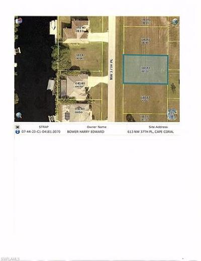 Lee County Residential Lots & Land For Sale: 613 NW 37th Pl
