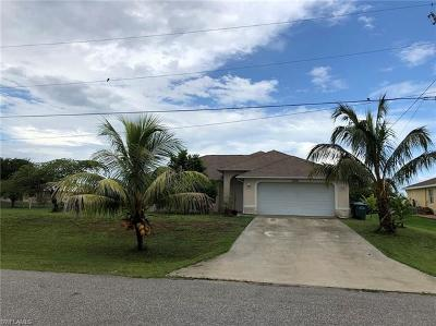 Cape Coral FL Single Family Home For Sale: $185,000