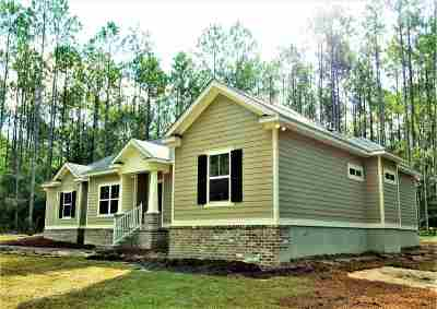 Crawfordville Single Family Home For Sale: 1685 Wakulla Arran