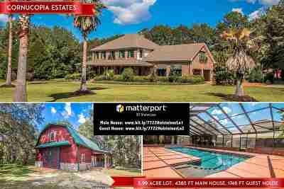 Tallahassee Single Family Home New: 7722 Holsteiner Ln