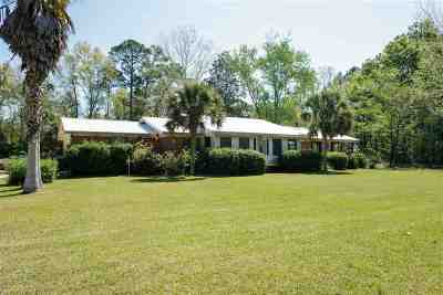 Lloyd, Tallahassee, Monticello, Lamont, Quincy, Havana, Wacissa, Crawfordville, Woodville Single Family Home For Sale: 155 Porsche Lane
