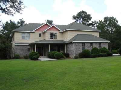 Lloyd, Tallahassee, Monticello, Lamont, Quincy, Havana, Wacissa, Crawfordville, Woodville Single Family Home For Sale: 2369 Dills Road