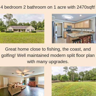 Crawfordville Single Family Home New: 77 Jean Drive