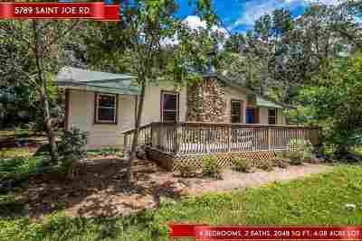 tallahassee Single Family Home For Sale: 5789 Saint Joe Rd
