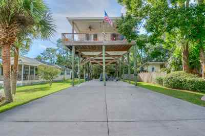 Crawfordville Single Family Home For Sale: 1484 Shell Point Road