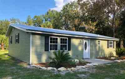 Crawfordville Single Family Home New: 245 Mt. Zion Road
