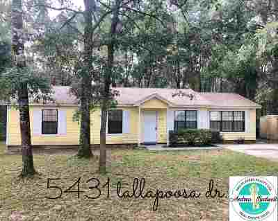 Tallahassee Single Family Home New: 5431 Tallapoosa Drive