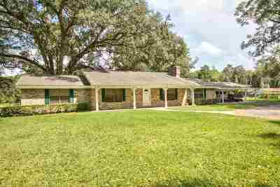 Tallahassee Single Family Home For Sale: 727 Benjamin Chaires Rd