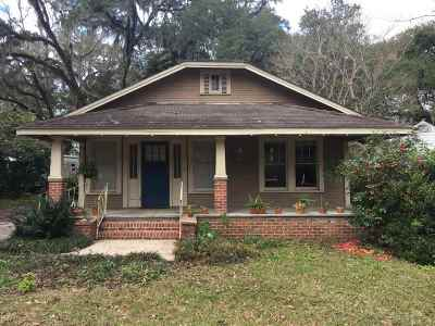 Tallahassee FL Single Family Home Back On Market: $162,000