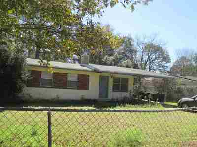 tallahassee Single Family Home For Sale: 1729 Atkamire Drive