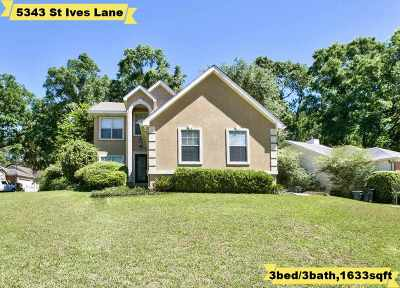 Tallahassee Single Family Home New: 5343 E St Ives Lane