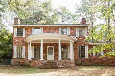 tallahassee Single Family Home For Sale: 1245 Groveland Hills Drive