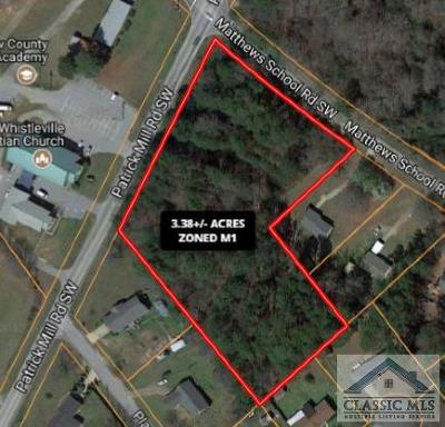Barrow County Residential Lots & Land Active Active: Patrick Mill Rd