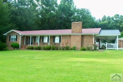 Oglethorpe County Single Family Home Active Active: 1390 Athens Road
