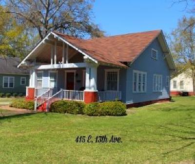 Lake Blackshear, Cordele, Warwick, Arabi, Ashburn, Rebecca, Sycamore Single Family Home For Sale: 415 E 13th Ave.