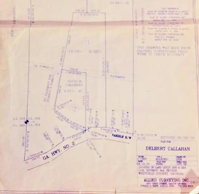 Chatsworth, Eton, Cohutta, Varnell, Dalton, Ringgold, Rocky Face, Tunnel Hill Residential Lots & Land For Sale: 00 Hwy 2