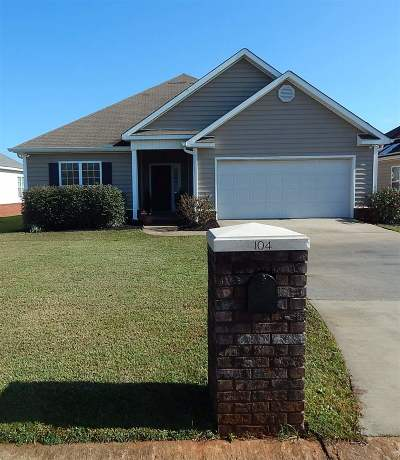 Warner Robins Single Family Home For Sale: 104 Apple Court