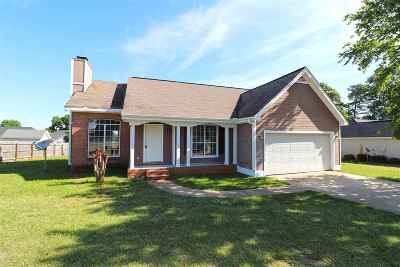 Warner Robins Single Family Home For Sale: 1007 Feagin Mill Road