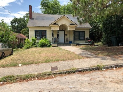 Macon Single Family Home For Sale: 1273 Hillyer Street