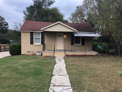 Columbus GA Single Family Home For Sale: $61,000