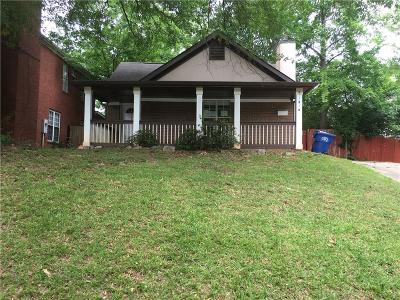 Atlanta GA Single Family Home On Hold: $109,500