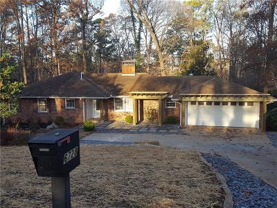 Sandy Springs Single Family Home For Sale: 6728 Brandon Mill Road