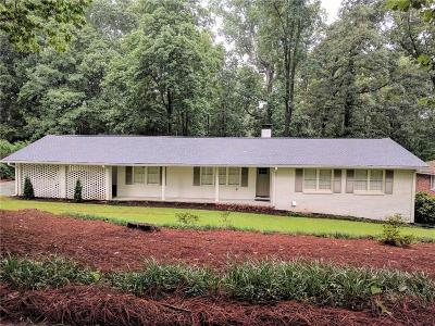 Sandy Springs Single Family Home For Sale: 6718 Brandon Mill Road
