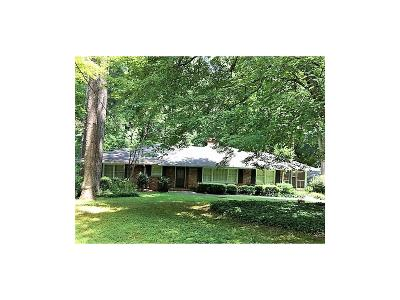 Sandy Springs Single Family Home For Sale: 4847 Lake Forrest Drive