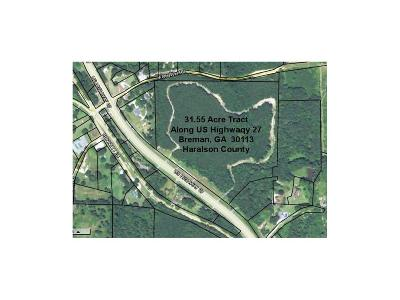 Haralson County Residential Lots & Land For Sale: 00 Us Hwy 27