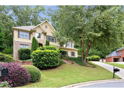 Kennesaw Single Family Home For Sale: 1466 Hickory Branch Trail NW