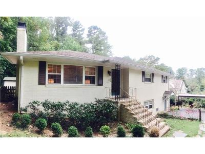 Marietta Single Family Home For Sale: 392 S Woodland Drive SW