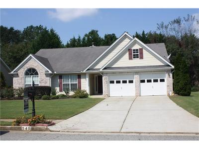 Lawrenceville Single Family Home For Sale: 540 Sterling Hill Drive