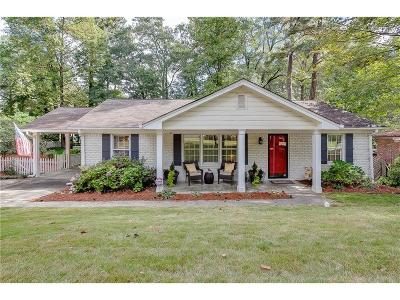 Brookhaven Single Family Home For Sale: 1556 Tryon Road NE