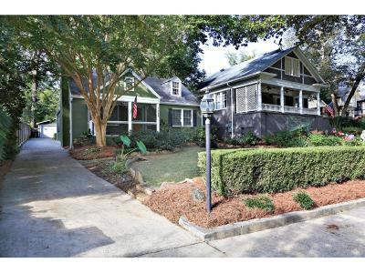 Atlanta Single Family Home For Sale: 1388 N Morningside Drive NE