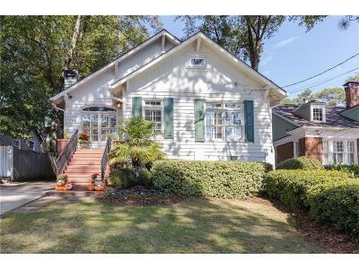 Single Family Home For Sale: 138 Peachtree Hills Avenue NE