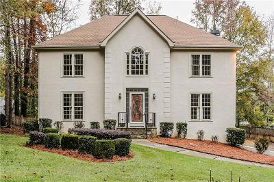 Kennesaw Single Family Home For Sale: 158 Lakeside Drive NW