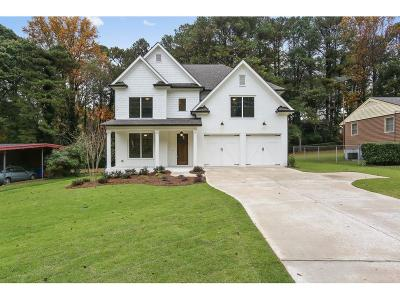 Brookhaven Single Family Home For Sale: 1890 Canmont Drive NE