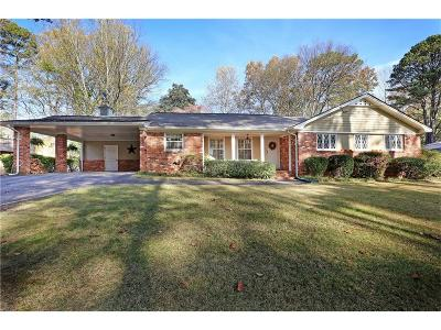 Atlanta Single Family Home For Sale: 2464 NE Sunset Drive