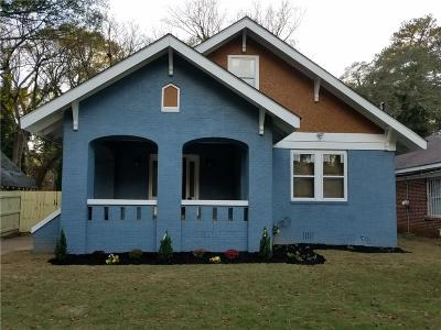 Atlanta Single Family Home For Sale: 1554 Pineview Terrace SW
