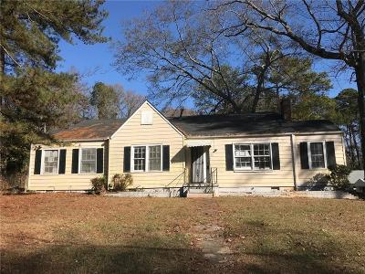 Fulton County Single Family Home For Sale: 1641 Sandtown Road SW