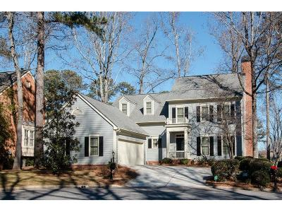 Roswell  Single Family Home For Sale: 9745 Terrace Lake Pointe