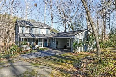 Marietta Single Family Home For Sale: 3250 Burnt Hickory Road NW