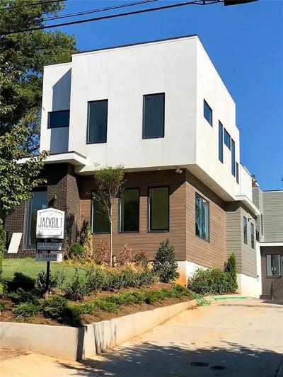 Old Fourth Ward Condo/Townhouse For Sale: 522 Boulevard Place NE #1