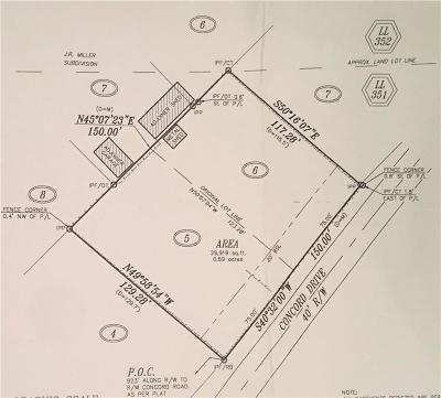 Marietta Residential Lots & Land For Sale: 1666 Concord Drive SE