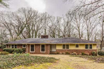 Atlanta Single Family Home For Sale: 1235 Mount Paran Road NW